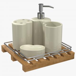 Bathroom Accessories 3D Models Set 3D model