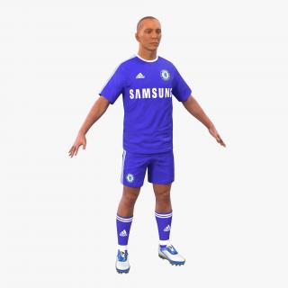 3D Soccer Player Chelsea