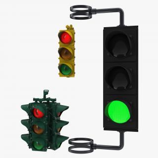 Stop Lights 3D Models Collection 3D