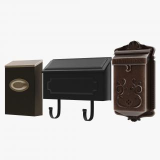3D Wall Mount Mailboxes Collection