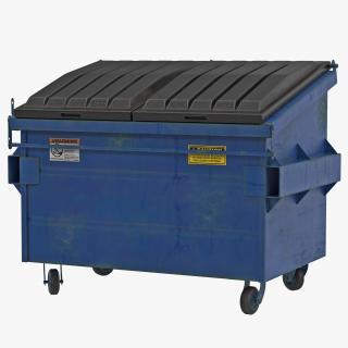 3D Dumpster Blue model