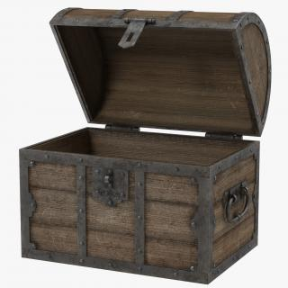 3D Old Wooden Chest