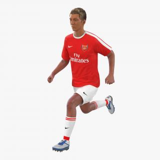 3D model Soccer Player Arsenal Rigged 2