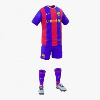Soccer Clothes Barcelona 3D model
