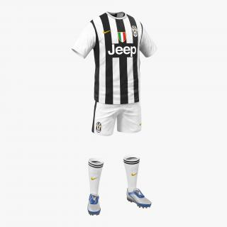 3D Soccer Clothes Juventus model