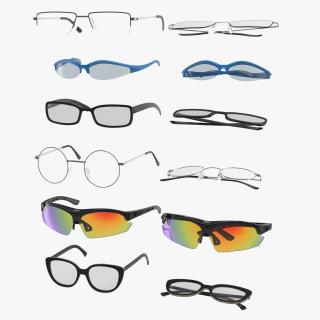 3D model Glasses Collection 2