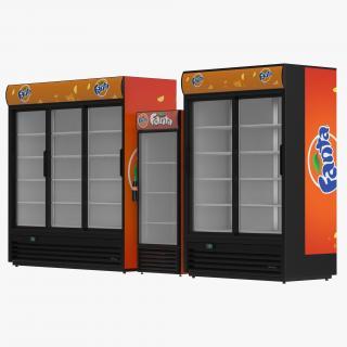 3D model Fanta Refrigerators Collection