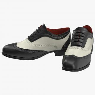 3D Wingtip Shoes model