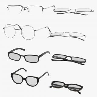 3D model Glasses Collection 3