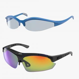 Sport Glasses Collection 3D model