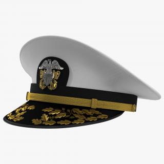 3D Admiral Combination Hat model
