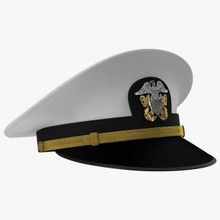 3D model US Navy Officer White Hat