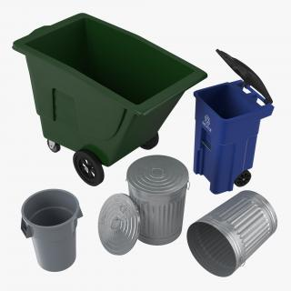 3D Garbage Cans 3D Models Collection model