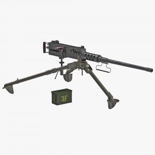 Machine Gun Browning M2 Collection 3D model