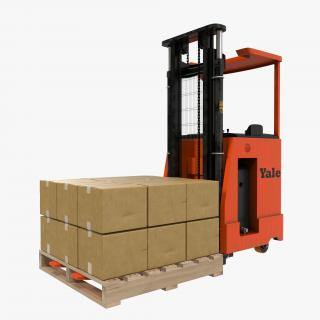 Rider Stacker Red and Pallet 3D Models Set 3D