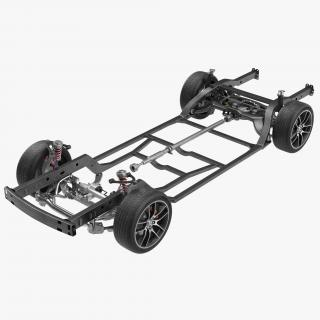 Sedan Chassis Drivetrain 3D model