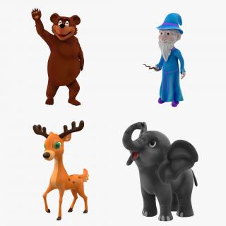 3D Cartoon Rigged Characters Collection