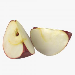 3D model Red Apple Slice