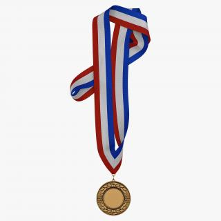 3D model Award Medal 3 Bronze