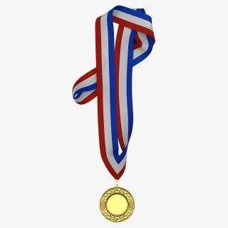 3D Award Medal 3 Gold model