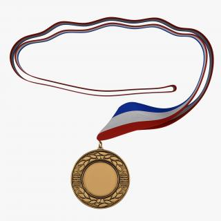 3D model Award Medal 4 Bronze