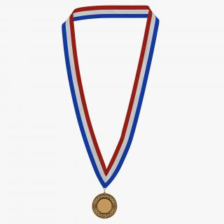 3D Award Medal Bronze model