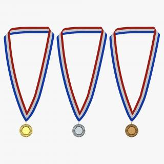 3D Award Medals 3D Models Set