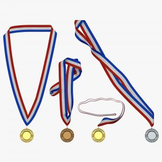 3D Award Medals Set 2 model
