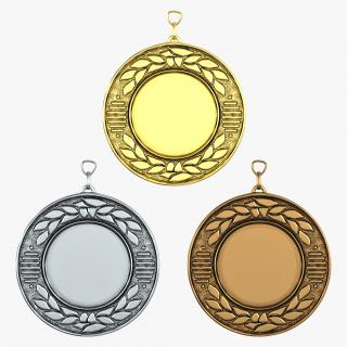 3D Award Medals 3D Models Set 3 model