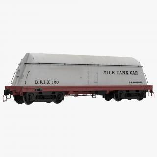 3D Milk Tank Car model