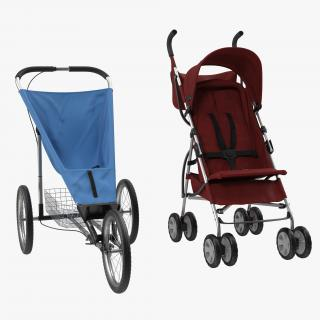 3D model Baby Strollers 3D Models Collection