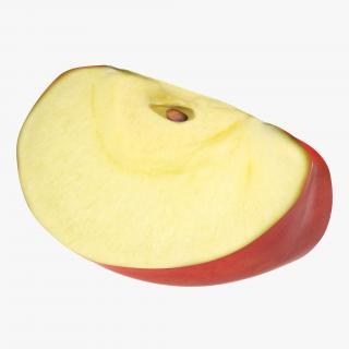 Red Apple Slice 3 3D