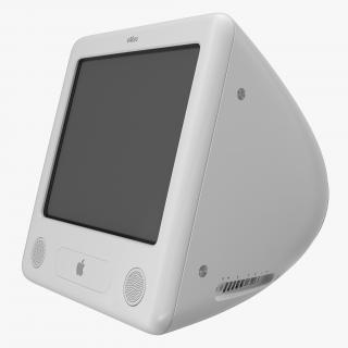 3D Apple eMac Desktop model