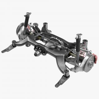 Sedan Back Axle 2 3D