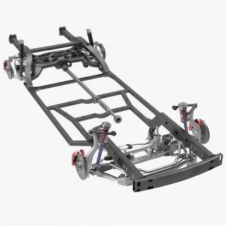 3D Sedan Chassis Drivetrain 2