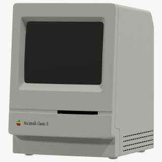 3D Apple Macintosh Classic II
