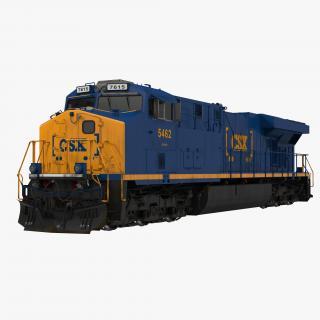 3D Locomotive ES40DC CSX Blue