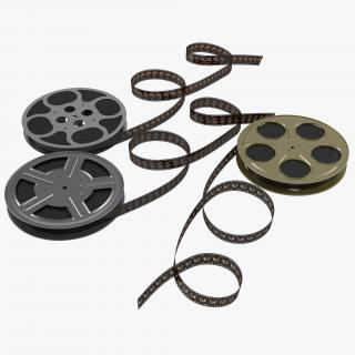 Video Film Reels Collection 2 3D model