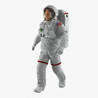 Astronaut Nasa Extravehicular Mobility Unit without Visor Rigged 3D model