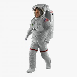 Astronaut Nasa Extravehicular Mobility Unit Rigged 2 3D