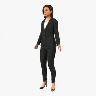 Business Woman Mediterranean Rigged 2 3D