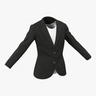 Women Suit Jacket 3D
