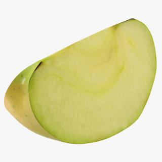 Green Apple Slice 2 3D model