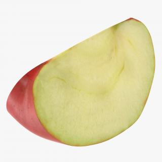 Red Apple Slice 2 3D