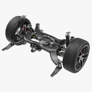 3D model Sedan Back Axle