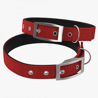 3D Dog Collar 3 Red