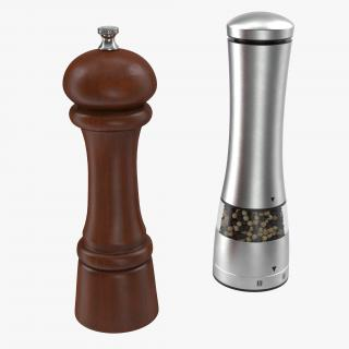 3D Pepper Mills Collection model