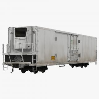 3D Railroad Refrigerator Car Generic model