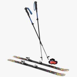 3D Equipment for Skiing 3D Models Collection