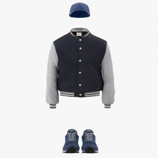 Baseball Style Clothing 3D Models Collection 3D model
